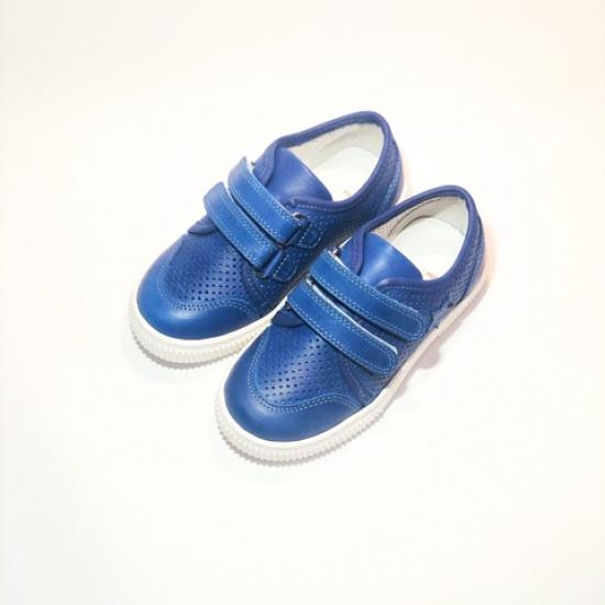 Кеды детские Pinini для мальчиков, натуральная кожа, синие