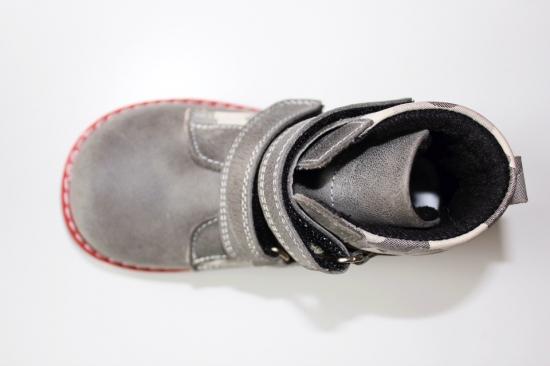 Ботинки детские Pinini демисезонные натуральная кожа, серые