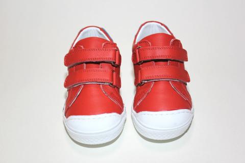 Кеды детские Pinini, натуральная кожа, красные