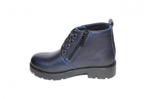 Ботинки детские Pinini для девочек, демисезонные натуральная кожа, синие