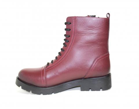Ботинки детские Pinini для верховой езды, натуральная кожа, бордовые
