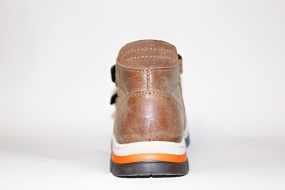 Ботинки детские Pinini для мальчиков, демисезонные натуральная кожа, коричневые