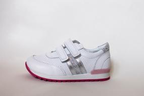 Кроссовки детские Pinini для девочек натуральная кожа, белые