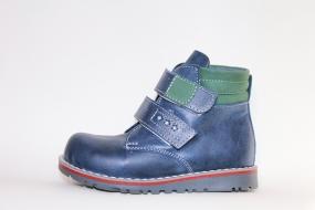 Ботинки детские Pinini демисезонные натуральная кожа, синие