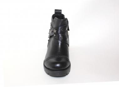 Ботинки детские Pinini для девочек, демисезонные натуральная кожа, черные