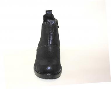 Ботинки детские Pinini для девочек, демисезонные натуральная кожа, темно-синий челси