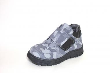 Ботинки детские Pinini для мальчиков, демисезонные натуральный нубук,серые