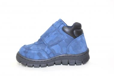 Ботинки детские Pinini для мальчиков, демисезонные, натуральный нубук, синие