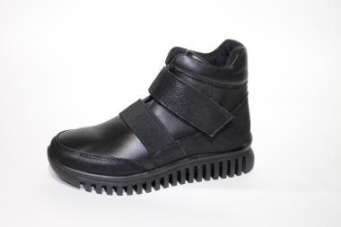 Ботинки детские Pinini для девочек демисезонные натуральная кожа, черные